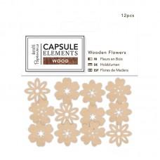 Набор элементов Elements Wood, украшения-цветы