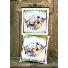 Набор для вышивания подушки Мечтательная корова