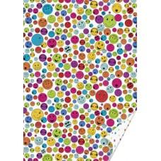 Лист плотной бумаги  дизайн Смайлики