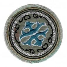 Термоаппликация HKM Эмблема хаки с голубым