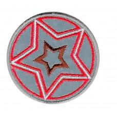 Термоаппликация HKM Звезда, цвет красный с коричневым