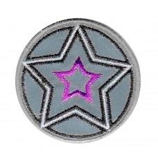 Термоаппликация HKM Звезда, цвет темно-серый с сиреневым