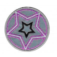 Термоаппликация HKM Звезда, цвет серый с лиловым