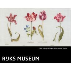 Набор для вышивания Тюльпаны Джейкоба Маррель и Джудит Лейстер, 16-й век, канва лён 36 ct