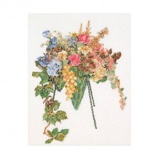 Набор для вышивания Цветочный каскад, канва лён 32 ct