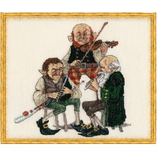 Набор для вышивания Uilleann pipe-Mus A (Музыкальная труба Уиллена)