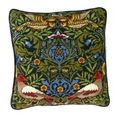 Набор для вышивания подушки Bird William Morris (Птицы)