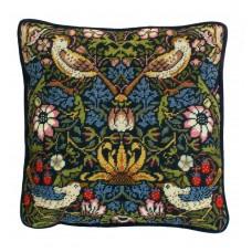 Набор для вышивания подушки Strawberry Thief William Morris (Клубника)