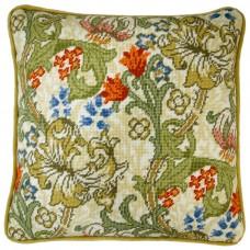 Набор для вышивания подушки Golden Lily William Morris (Золотая лилия)