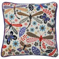 Набор для вышивания подушки Dragonfly (Стрекоза)