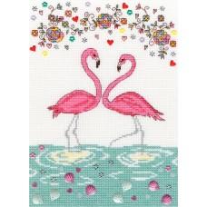 Набор для вышивания Love Flamingo (Любовь фламинго)