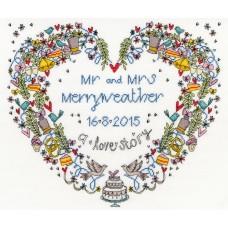 Набор для вышивания Wedding Heart (Свадебное сердце)