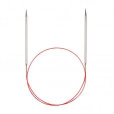 Спицы никелированные круговые с удлиненным кончиком, №8, 50 см
