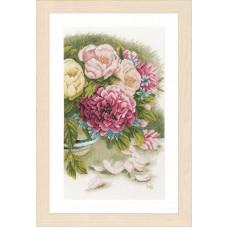 Набор для вышивания Peony roses LANARTE