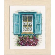 Набор для вышивания Window with shutters LANARTE