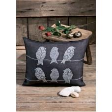 Набор для вышивания подушки Птицы