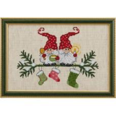 Набор для вышивания Эльфы и рождественские носки