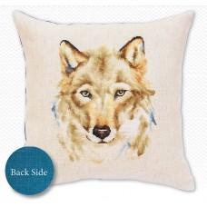 Набор для вышивания подушки Волк,  Luca-S