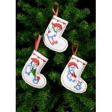 Набор для вышивания сапожка для подарков Рождественские носки