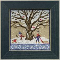 Набор для вышивания бисером Зимний дуб