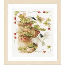 Набор для вышивания Strawberries & Birds
