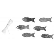 Набор декоративных элементов Рыбки и шнурком
