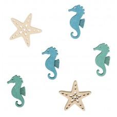 Набор декоративных элементов Морские звезды и коньки