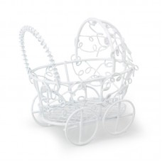 Садовая миниатюра Детская каляска