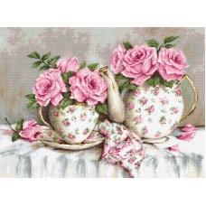 Набор для вышивания Утренний чай и розы
