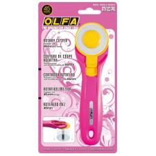 Дисковый нож с удобным хватом, диаметр 45 мм, розовый