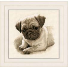 Набор для вышивания Собака Мопс