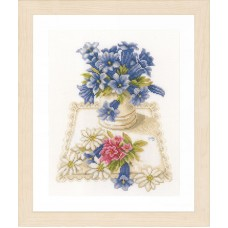 Набор для вышивания Blue flowers
