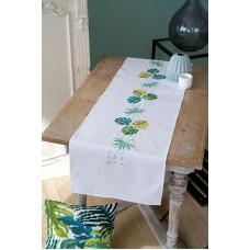 Набор для вышивания дорожки Ботанические листья