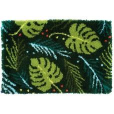 Набор для вышивания коврика Листья