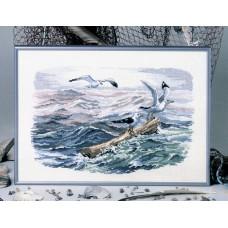 Набор для вышивания Чайки на море
