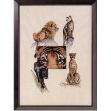 Набор для вышивания Дикие животные