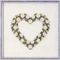 Набор для вышивания Сердце из ромашек