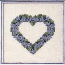 Набор для вышивания Сердце из фиалок