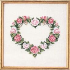 Набор для вышивания Сердце из розовых роз