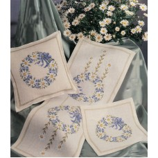 Набор для вышивания салфетки Венок из ромашек