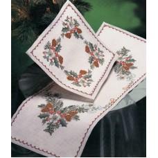 Набор для вышивания салфетки Рождественские узоры