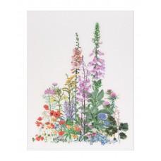 Набор для вышивания Полевые цветы, канва лен 32 ct