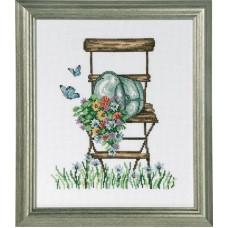 Набор для вышивания Стул с цветами