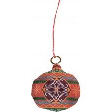 Набор для вышивания ёлочного украшения Мяч