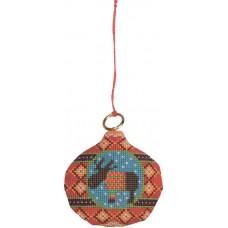 Набор для вышивания ёлочного украшения Лось на шаре