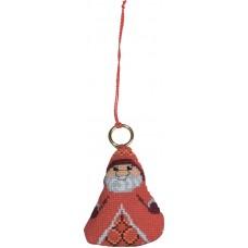 Набор для вышивания ёлочного украшения Дед Мороз