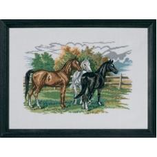 Набор для вышивания Три лошади