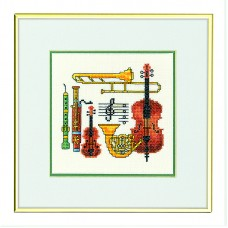 Набор для вышивания Музыка, лён 26 ct