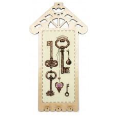 Набор для вышивания Ключики с пришивной рамкой