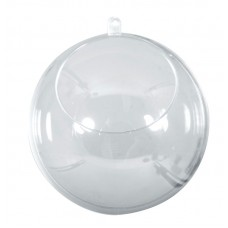 Шар пластиковый разъёмный с отверстием, 8 см